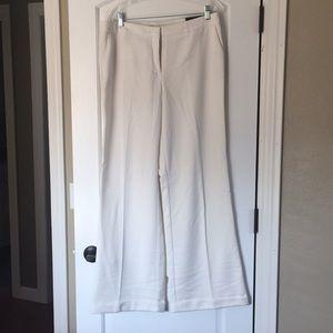 Worthington winter white wide leg trousers